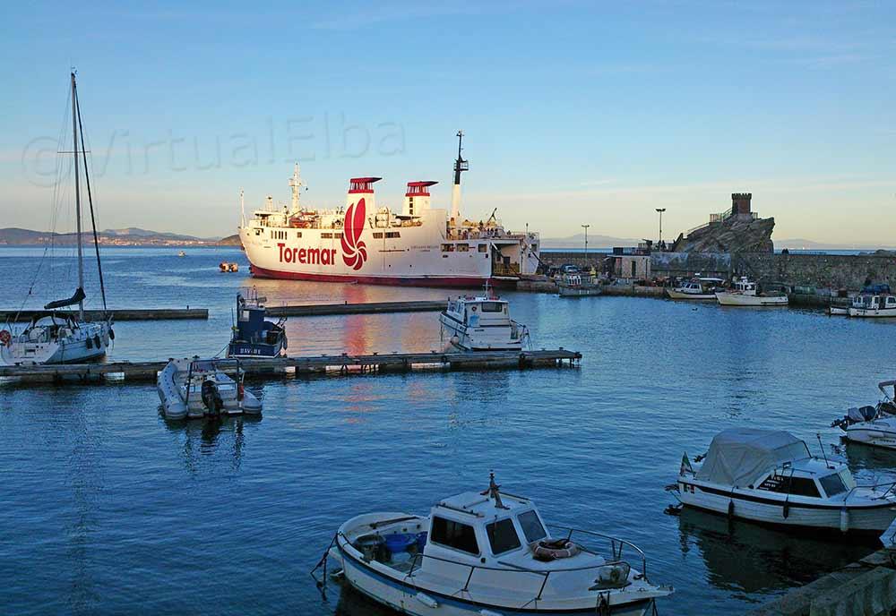 Rio Marina Ferry in port