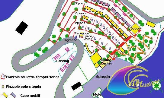 Cartina del campeggio