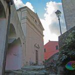Scalinata che conduce alla chiesa di San Sebastiano e Fabiano